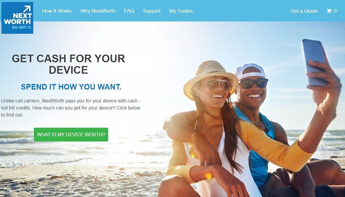 NextWorth homepage screenshot