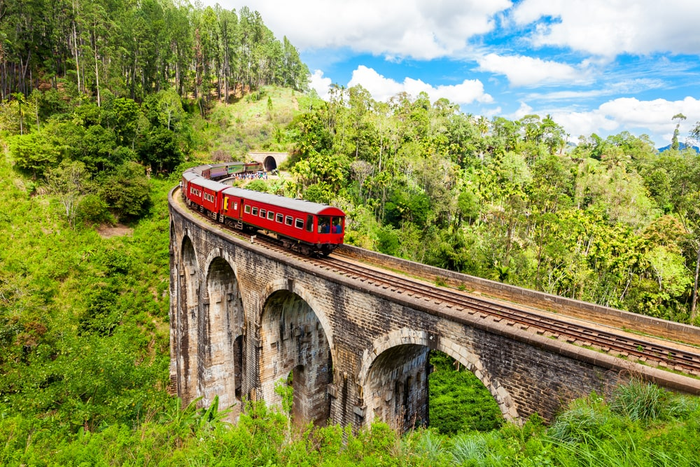 Nine Arches Demodara Bridge in Sri Lanka.