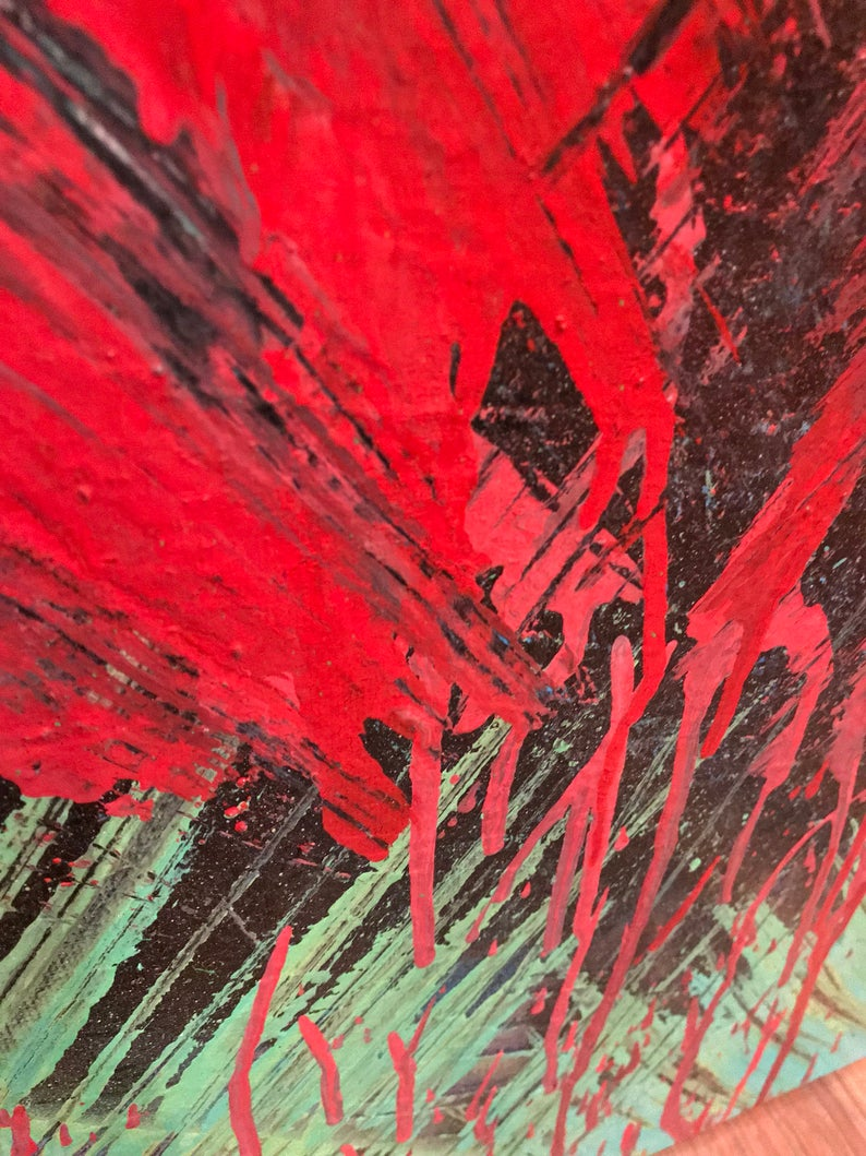 Paint scrape art