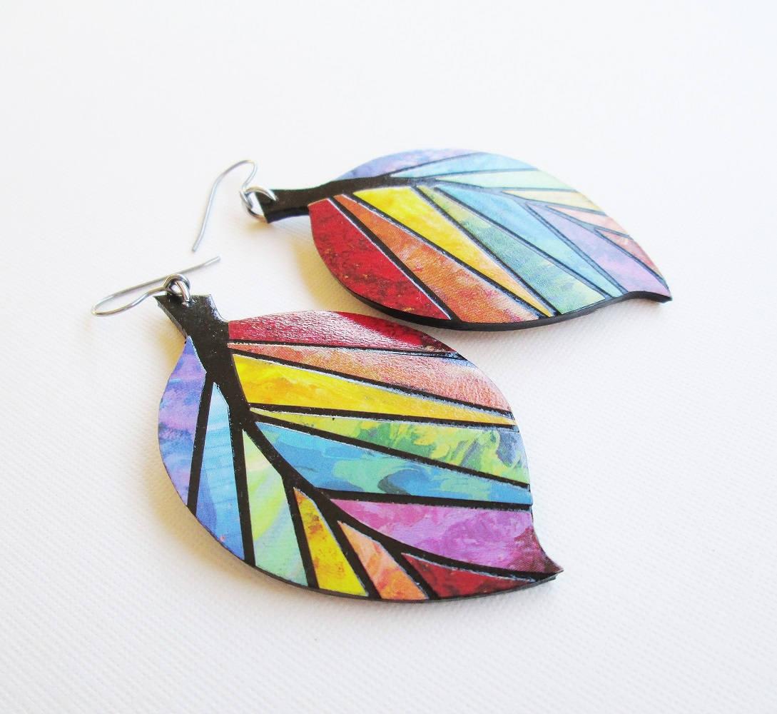 Paper mosaic earrings