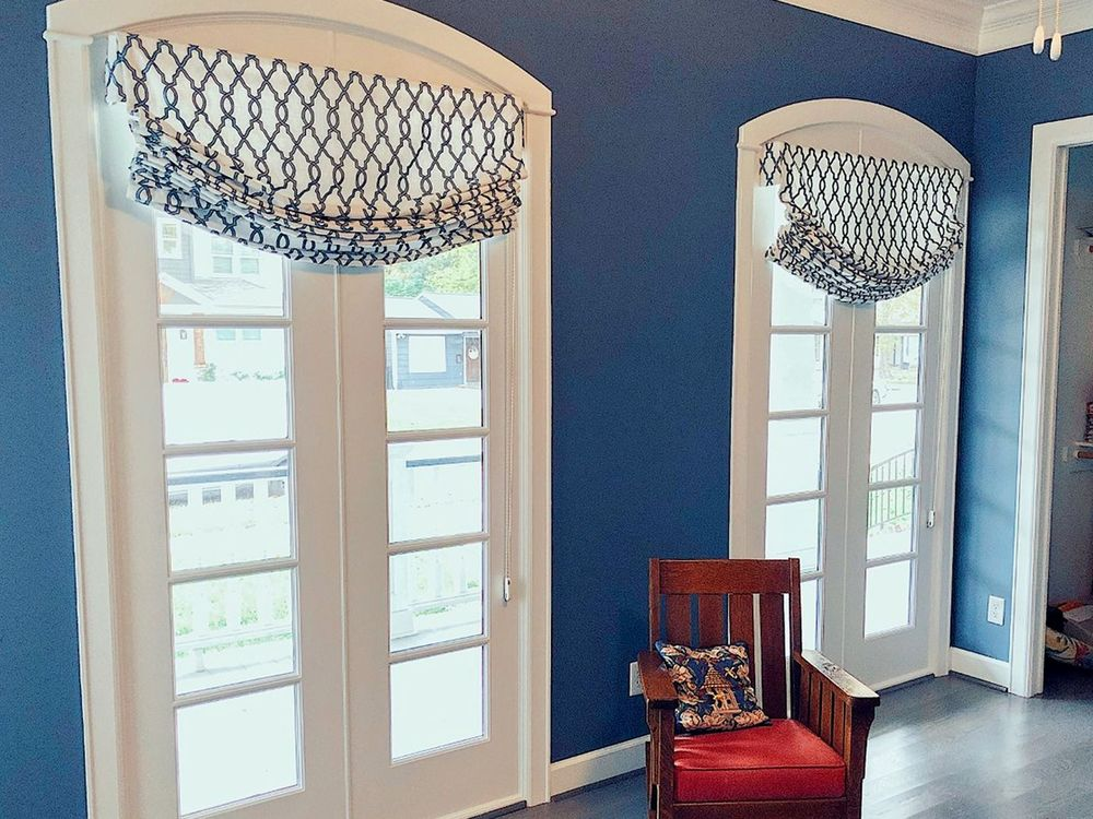 Soft Roman Shades on a Corded Loop