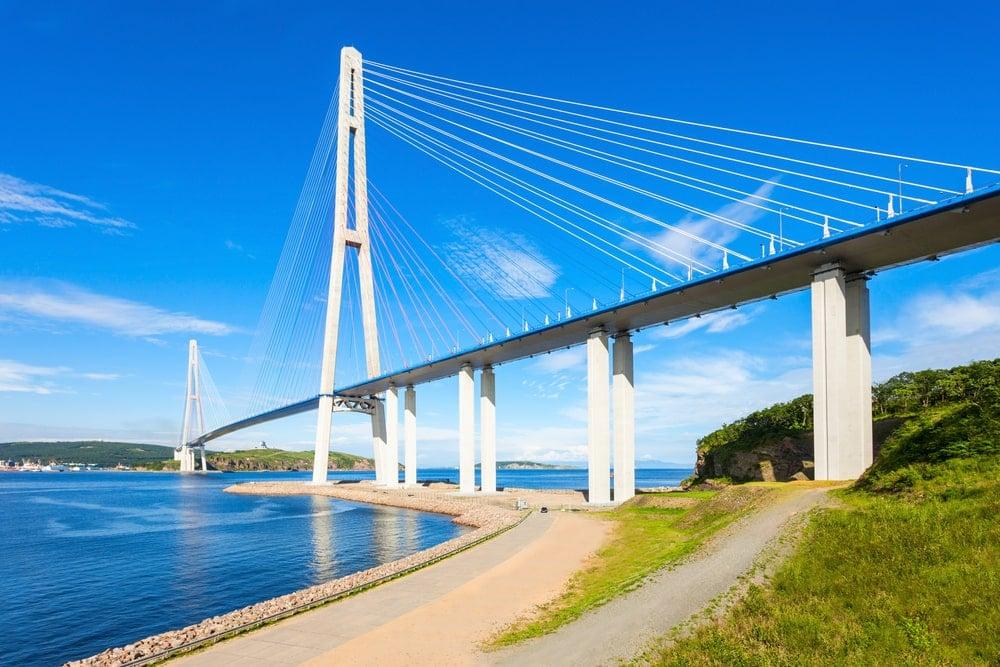 Russky Bridge in Vladivostok.