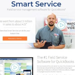Smart Service homepage screenshot