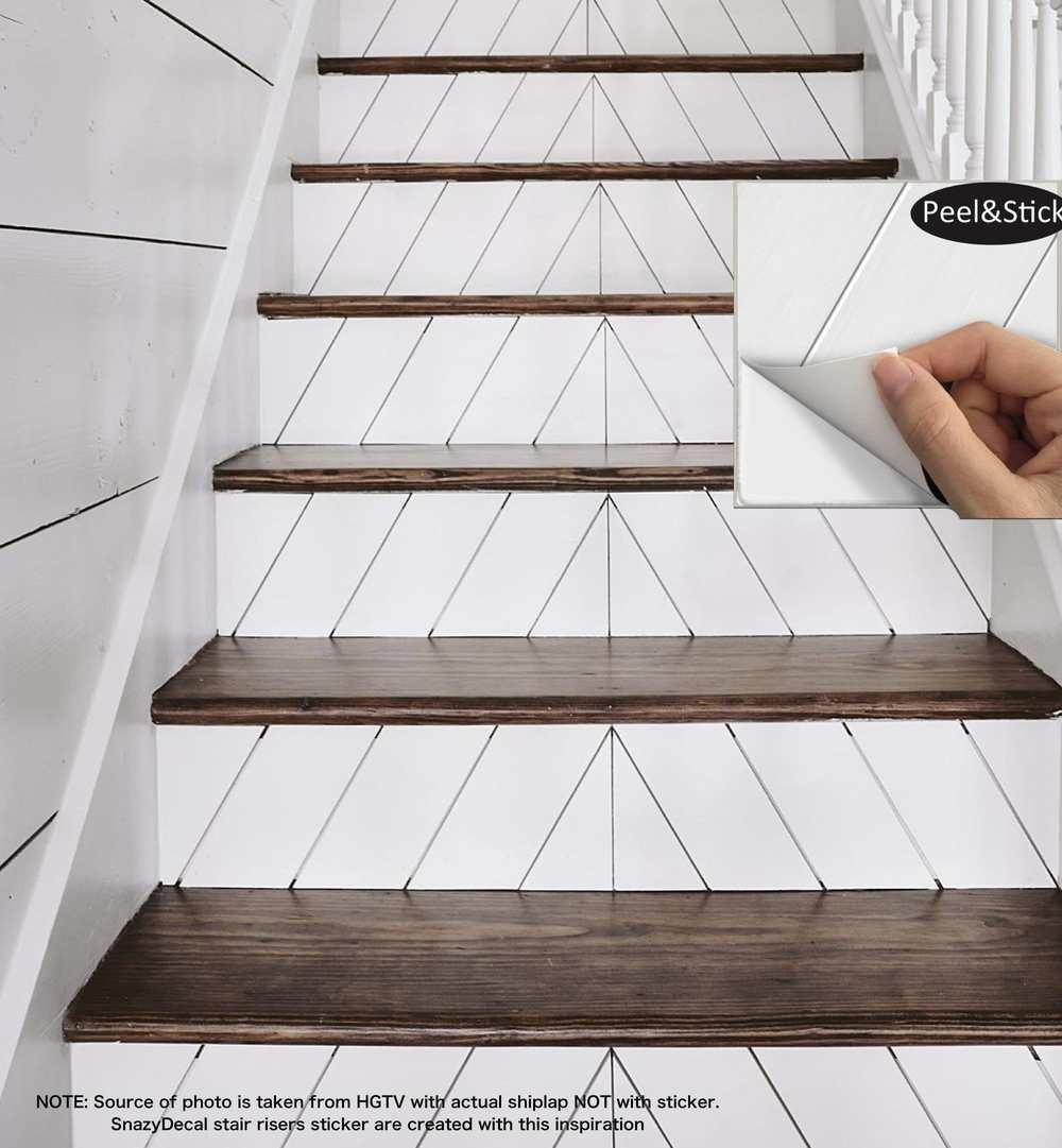 SnazzyDecal B002 Beadboard Vinyl Stair Riser Decals