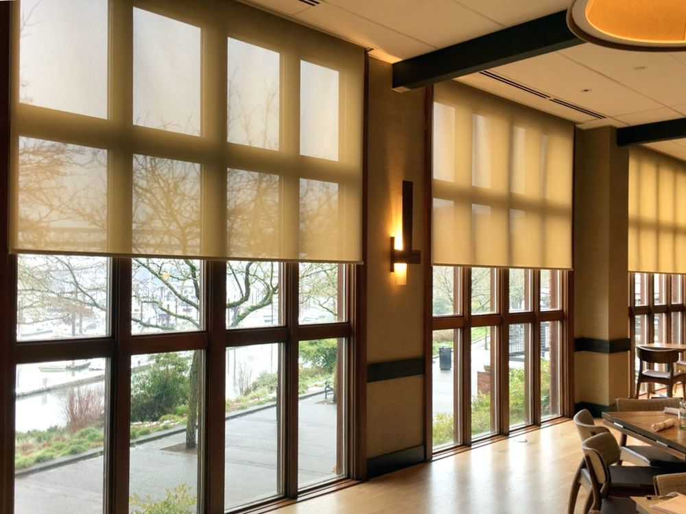Solar Shades with Motorization - 5% Openness