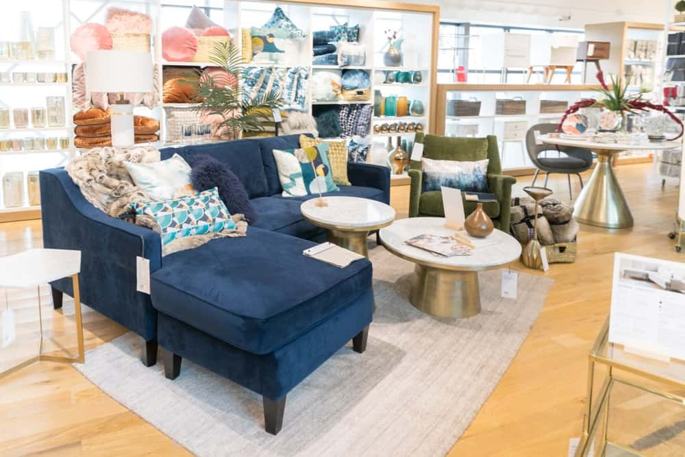 West Elm store interior in New Jersey.
