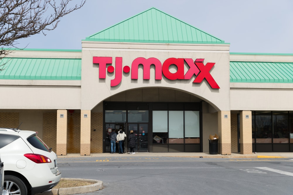 TJ Maxx storefront in Philadelphia, Pennsylvania.