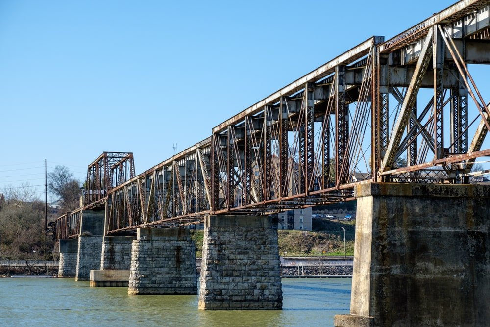 Truss bridge over the Tennessee River.