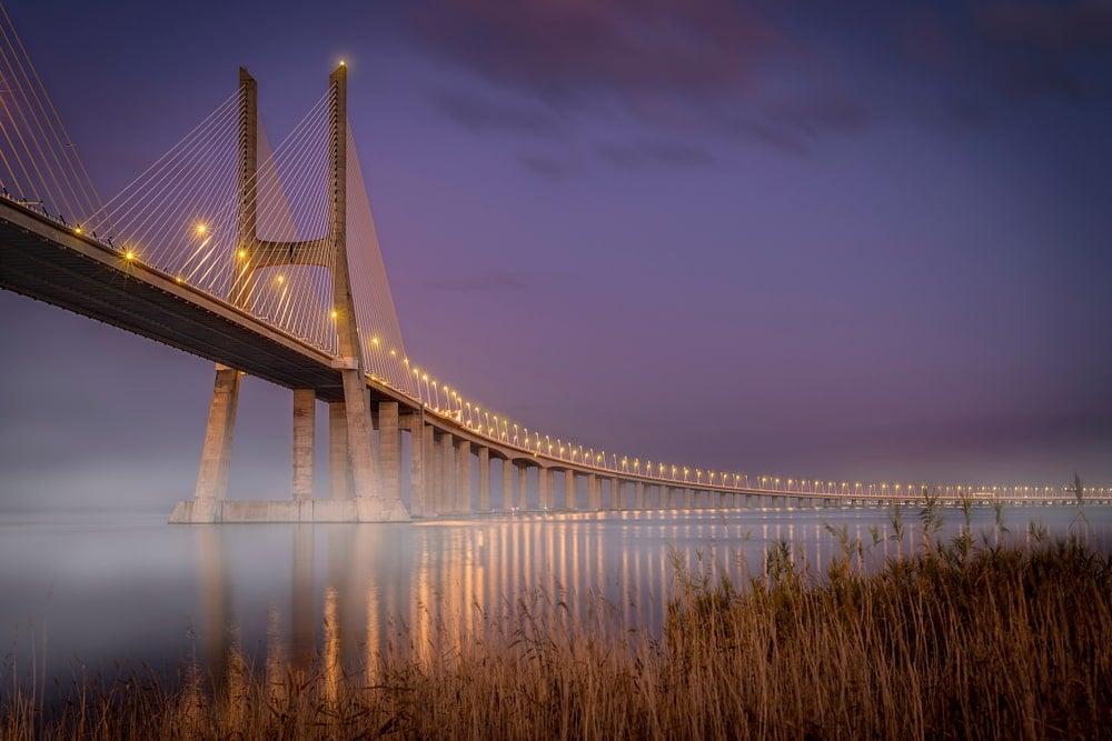 Vasco de Gama bridge in Portugal.