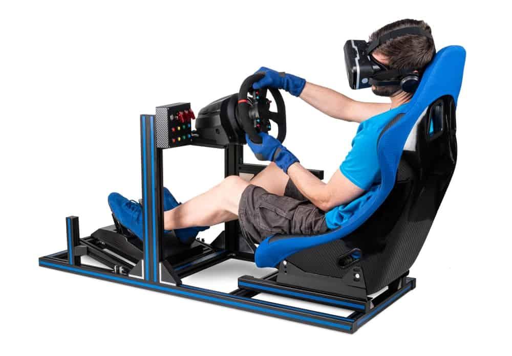 Man playing virtual reality.