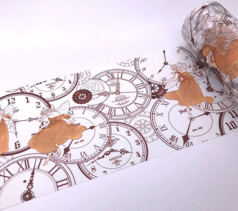 Washi tape clock