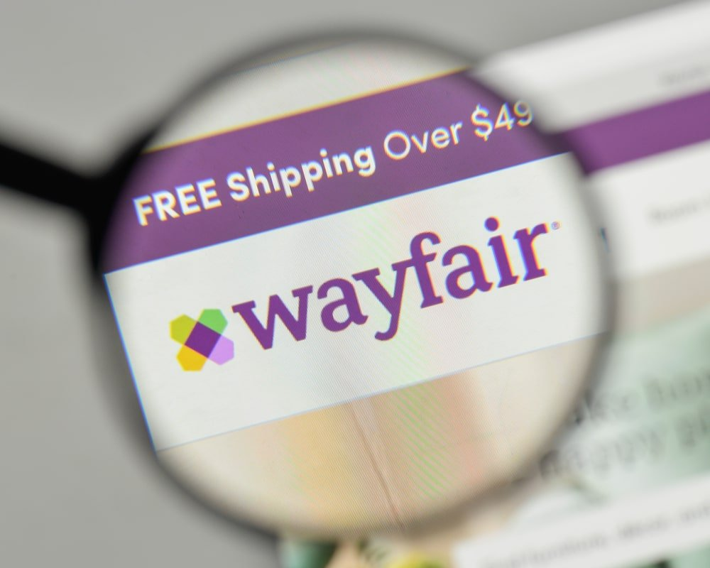 Wayfair homepage