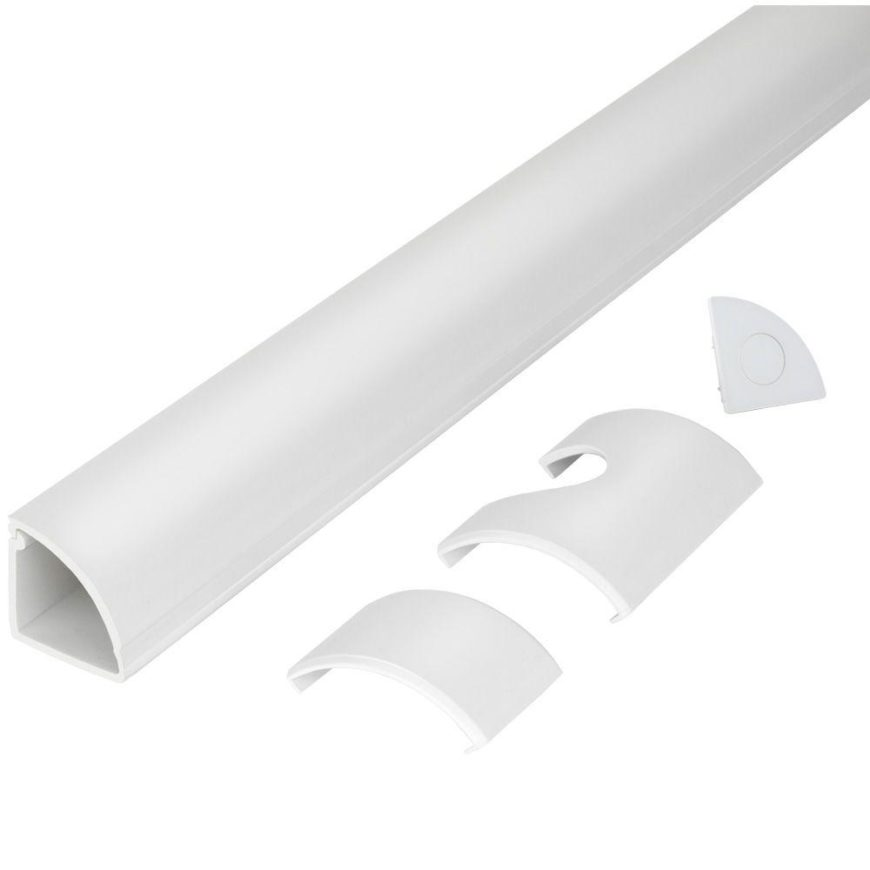 CE Tech Round Baseboard Cord Channels