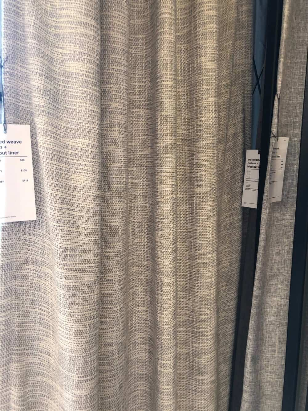 Textured Weave with Blackout liner by west elm