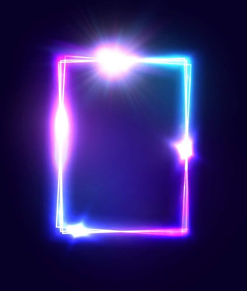 3D neon square