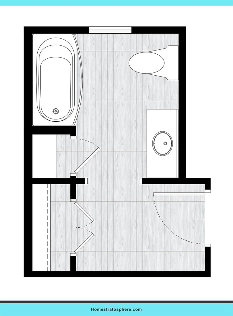 Hallway bathroom design layout ideas.