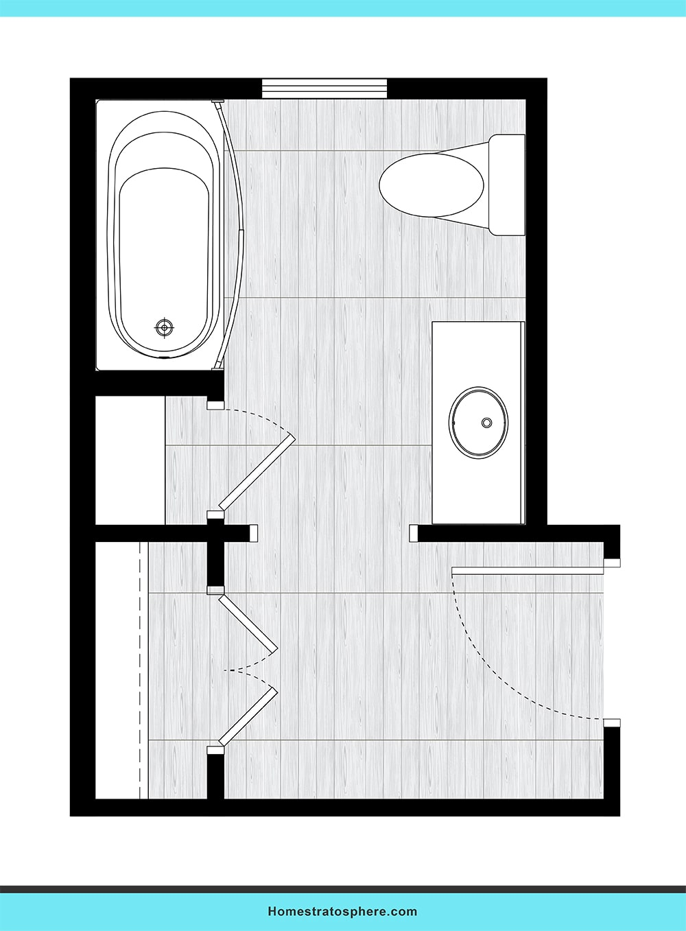 Bathroom With Walk In Closet Layout