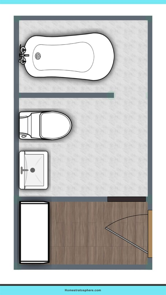 Style in a tight space bathroom layout ideas.