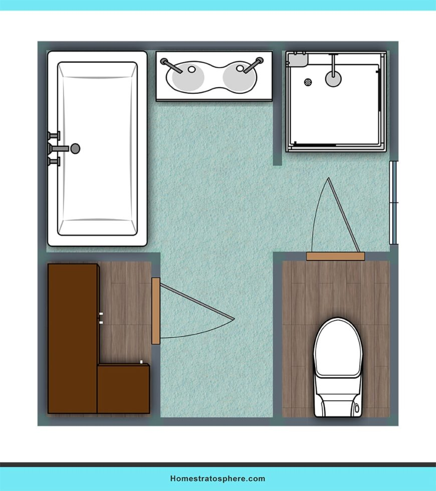 Layout provides privacy and amenities.