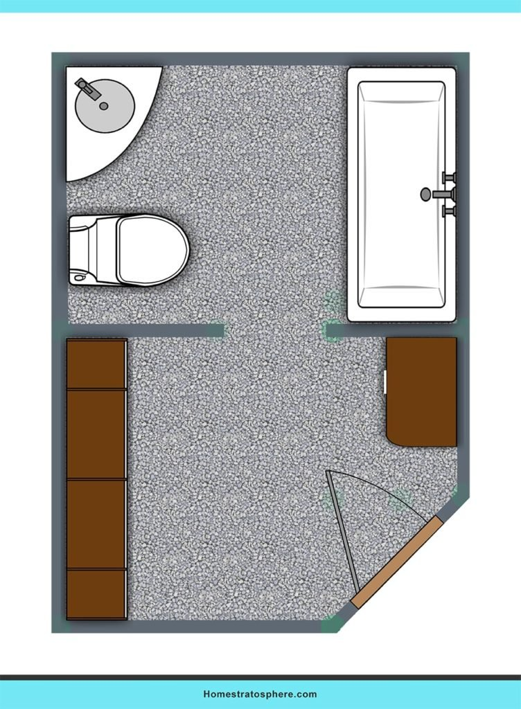 Practical layout bathroom layout ideas.