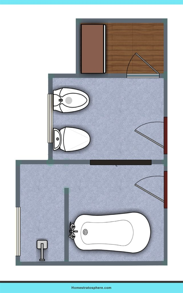 A bathroom design for a smaller space.