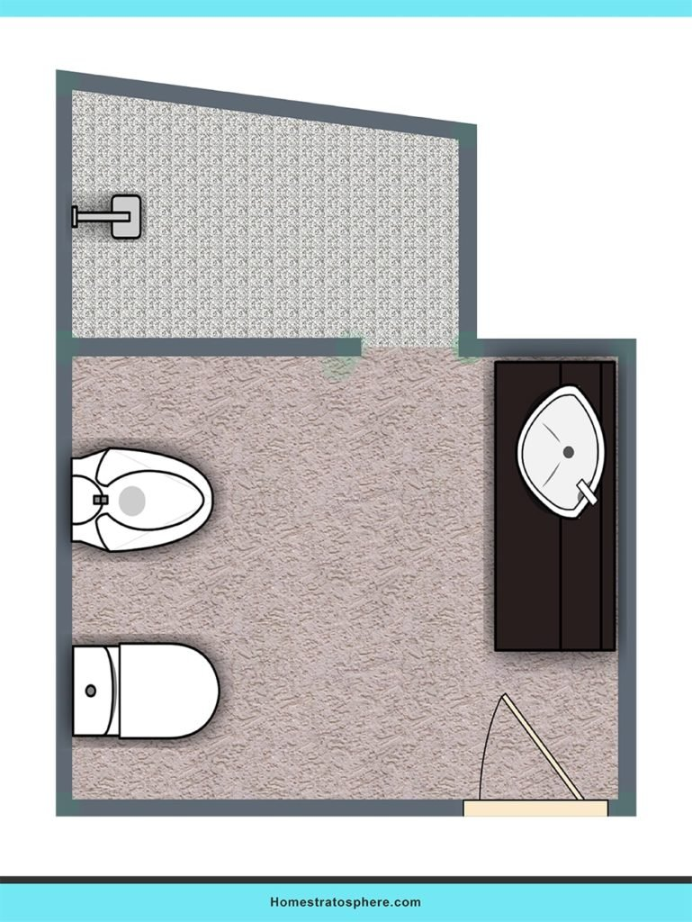 Practical bathroom layout plan with upgrades.