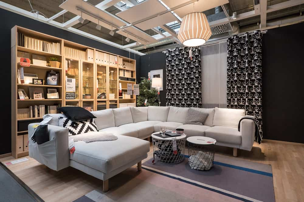 IKEA living room example with sectional sofa