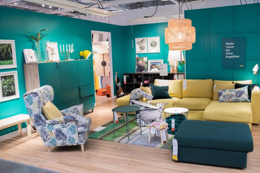 IKEA armchair in IKEA store