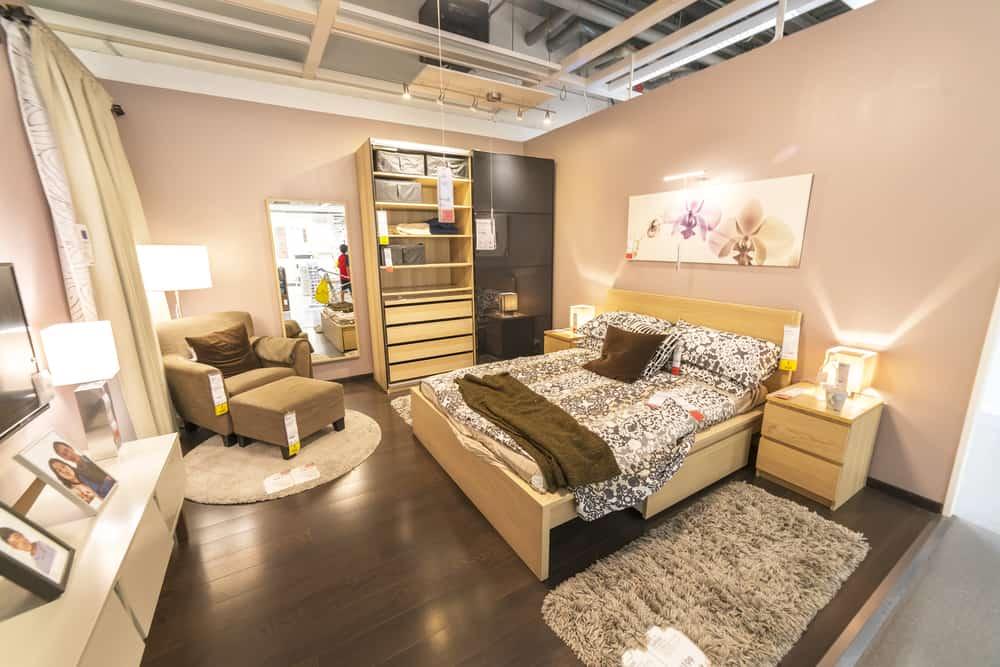 IKEA bedroom display