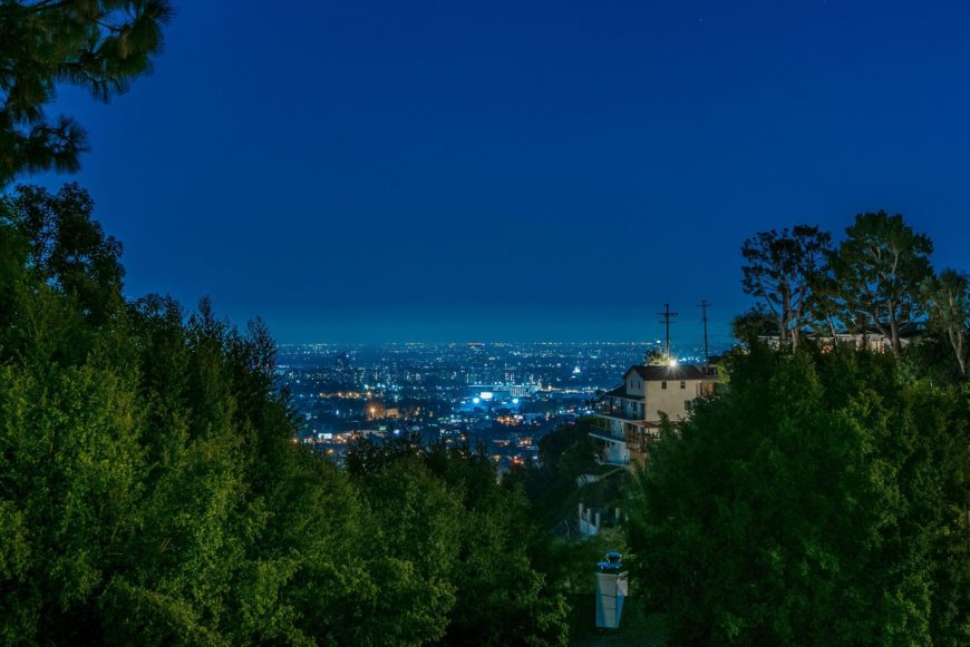 A view of the surrounding nature around the area of the property. The view is looking towards the city. Images courtesy of Toptenrealestatedeals.com.