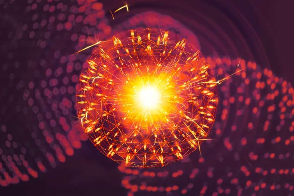 Nucleus of an atom molecule