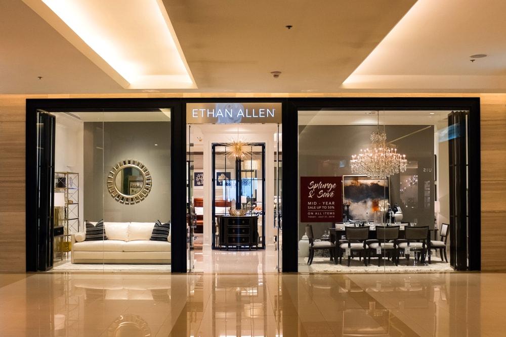 Ethan Allen store in Bangkok, Thailand.