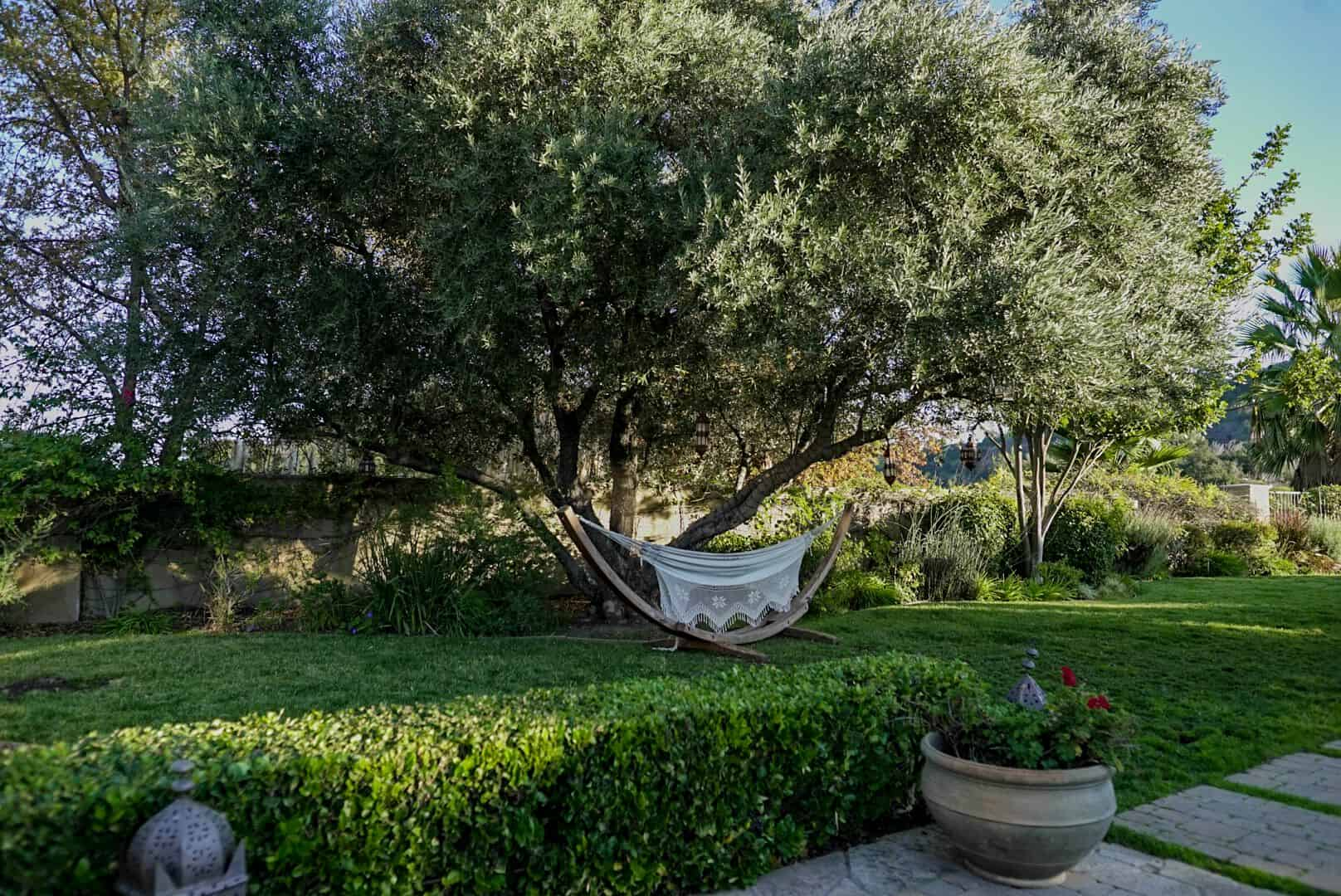 A look at the beautiful garden area of the property, rich with healthy green lawns, plants and trees. Images courtesy of Toptenrealestatedeals.com.