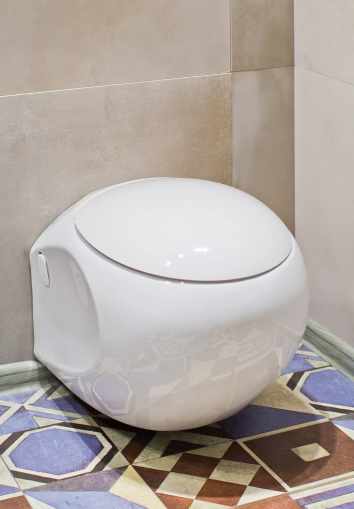 Modern futuristic ceramic toilet.