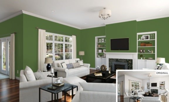 25 Of The Best Green Paint Color Options For A Living Room
