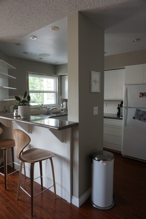 Before image of the Ravine House kitchen.