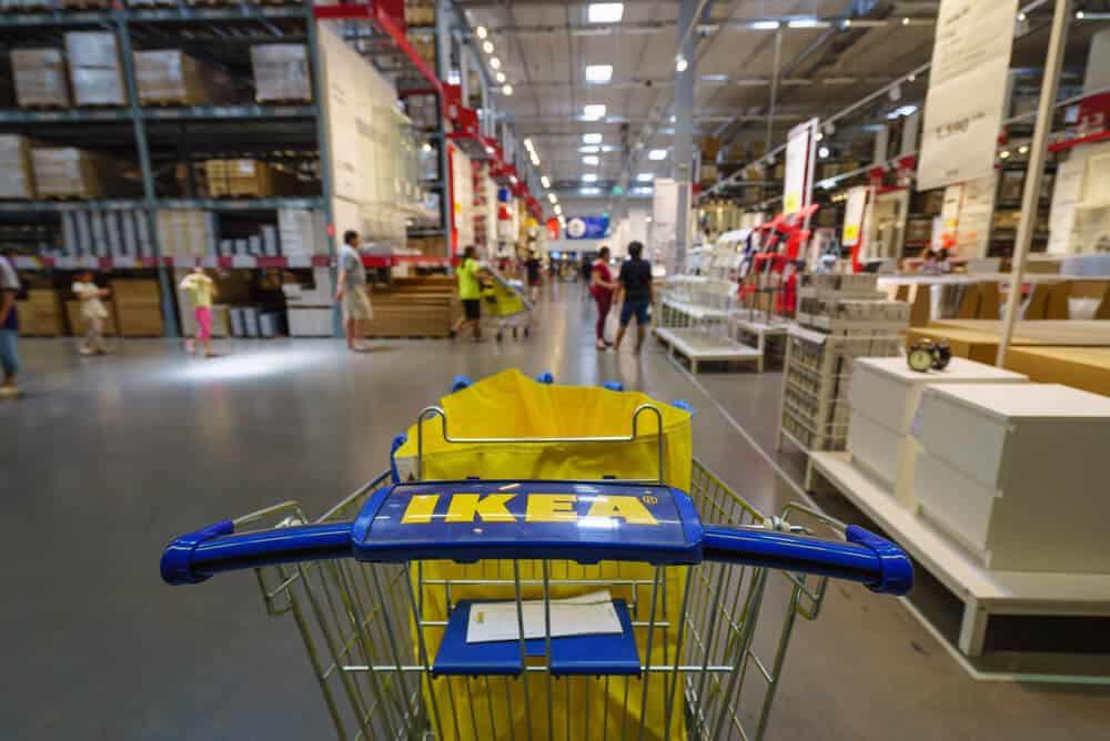 IKEA trolley in an IKEA store in Bangkok, Thailand.