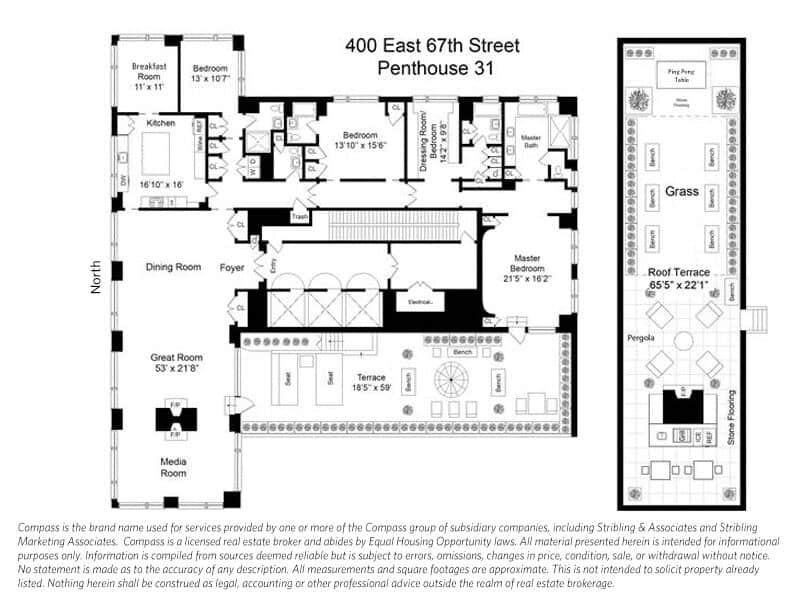 Here's the house's blueprint, showcasing how the modish house was set. Images courtesy of Toptenrealestatedeals.com.