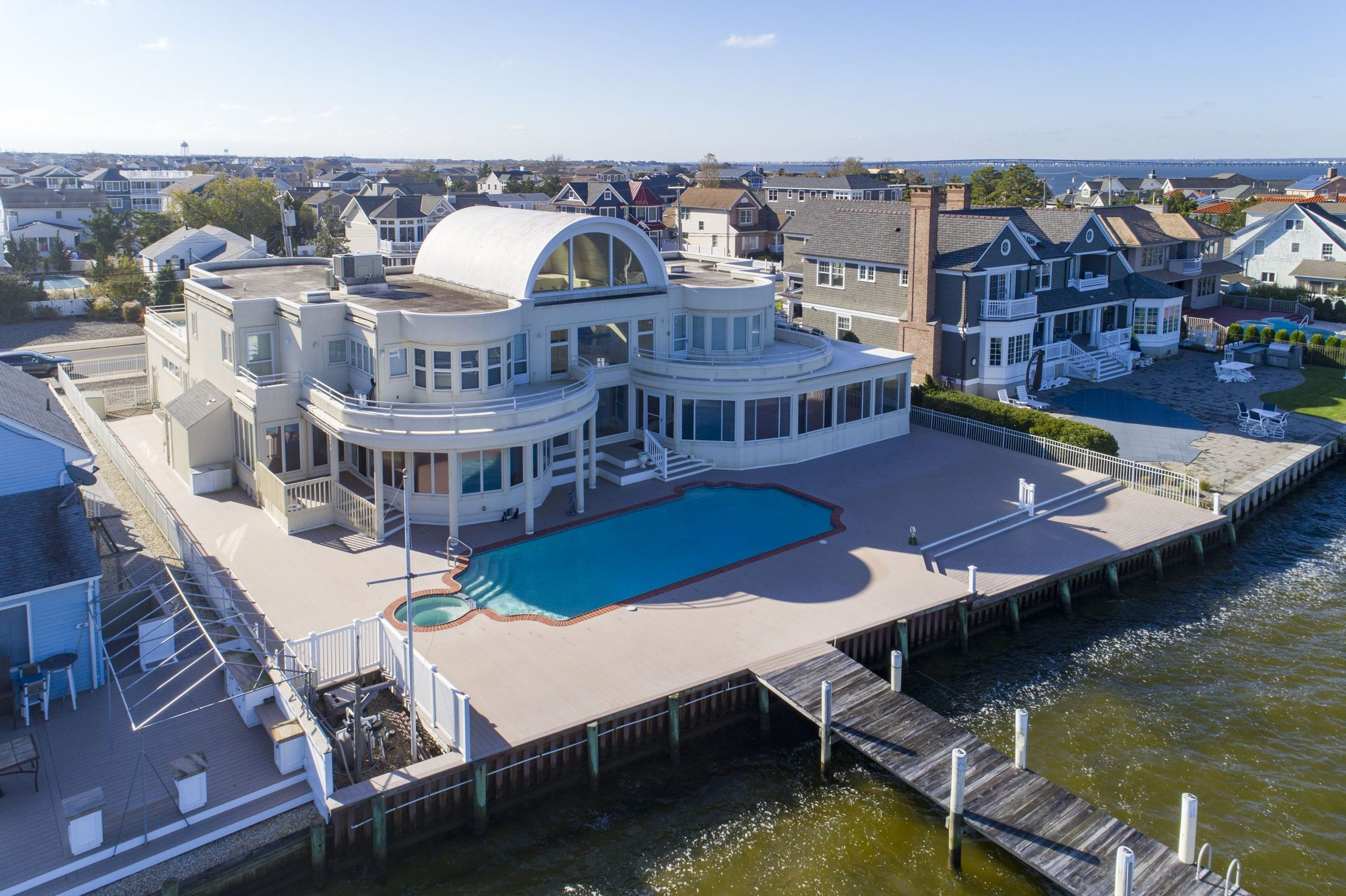 Joe Pesci's contemporary waterfront mansion now for sale at $6.5 million.