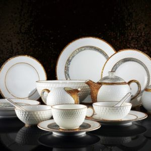 Luxury ceramic tableware.