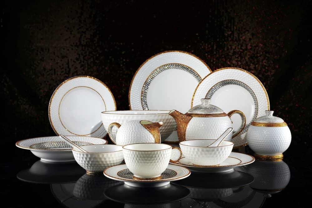 Luxury ceramic tableware.