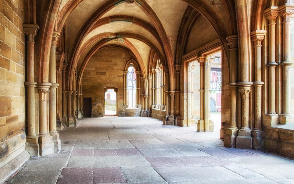 Maulbronn Monastery featuring its groin vault ceiling.