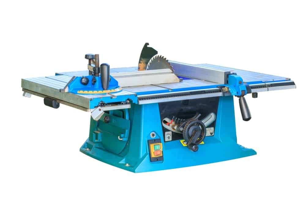 A photograph of a professional heavy-duty table saw on a white background.