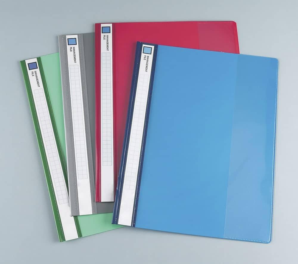 Multicolored folders.