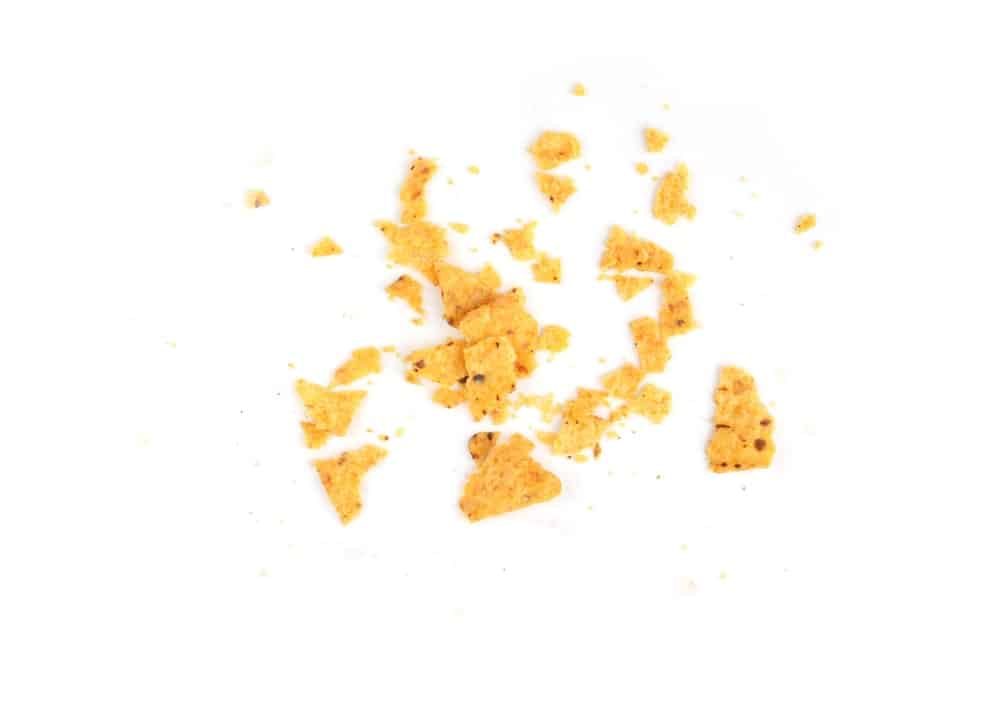 Nacho chips crumbs
