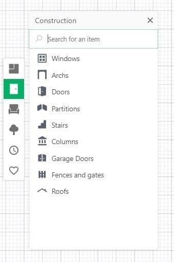 Screenshot of the Planner 5D Software.