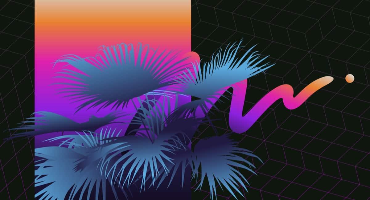 Palm Tree Retrowave Design