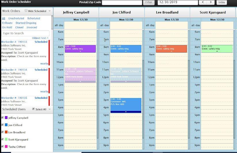 ServiceBox Scheduler