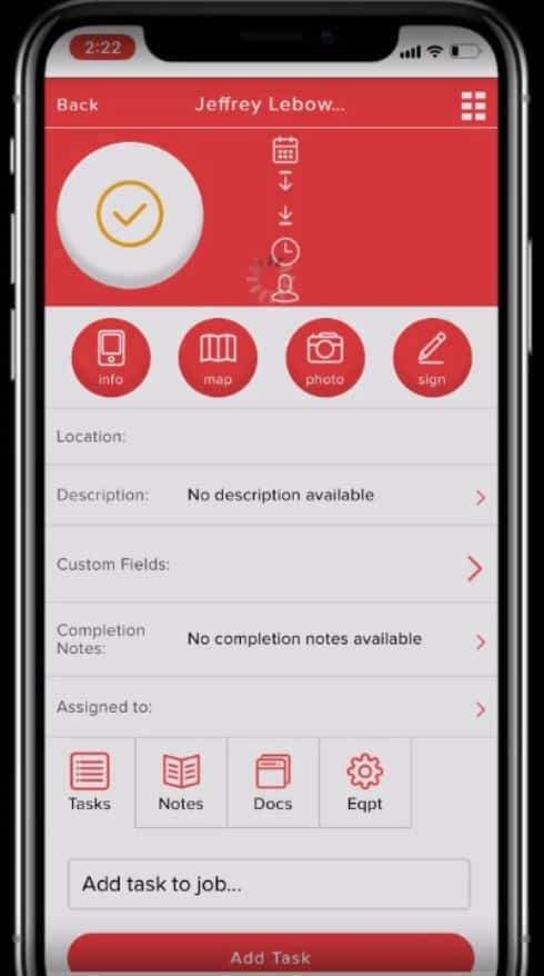 Service Fusion App screenshot