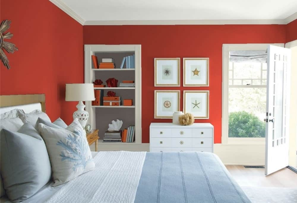 25 Of The Best Red Paint Color Options For Primary Bedrooms